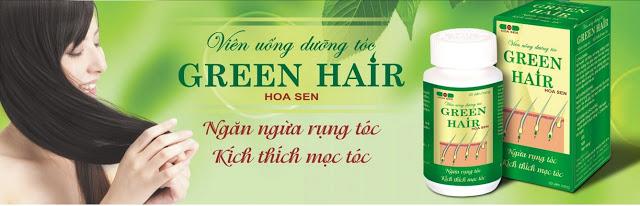 Vài nét về viên uống mọc tóc – thuốc trị rụng tóc Green Hair