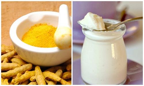Tác dụng của tinh bột nghệ và sữa chua đối với da nám tàn nhang