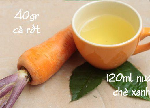 Cách trị mụn viêm bằng cà rốt và nước chè xanh siêu hiệu quả