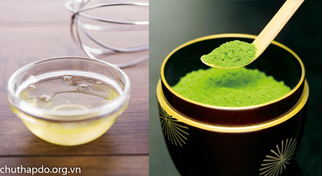 Trị dị ứng da mặt bằng bột trà xanh