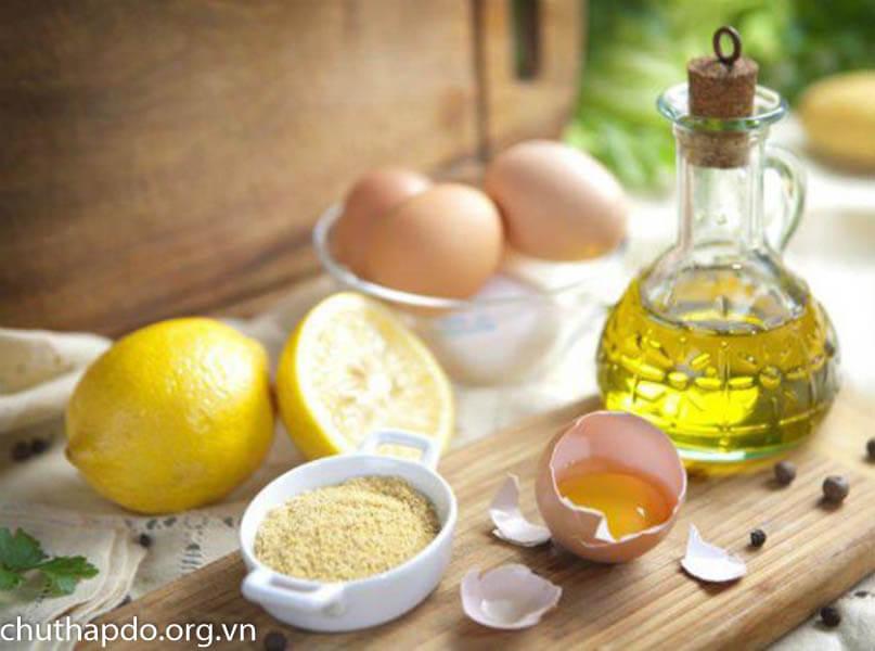 Lòng trắng trứng, chanh và oliu trị dị ứng da